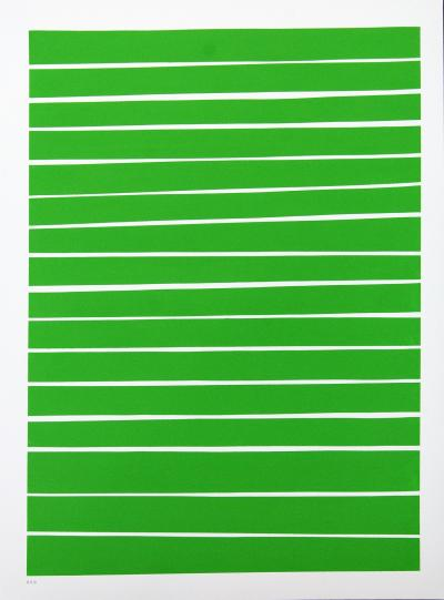 Aron Hill 16 Light Green Lines