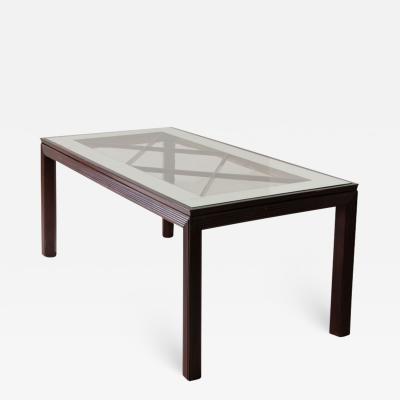 Arredamenti Borsani Varedo Elegant dining table with legs and ribbed wood bands