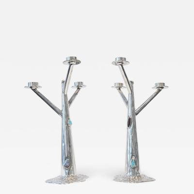 Arrigo Finzi Pair of Arrigo Finzi candle holders
