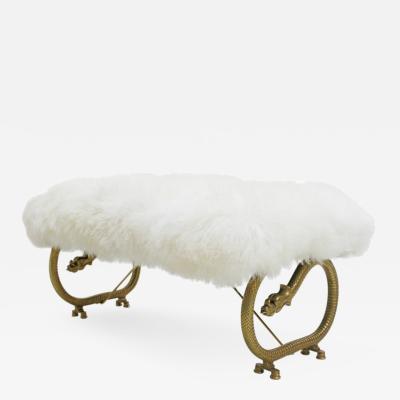 Art Dec Bronze Dragon Legs French Bench