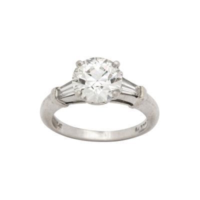 Art Deco 1 98 ct GIA VS2 I Diamond and Platinum Engagement Ring
