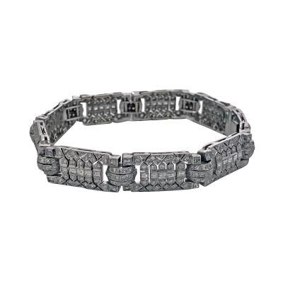 Art Deco 18K Diamond Bracelet C 1930
