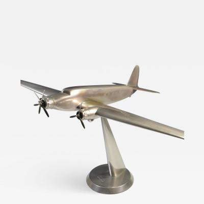 Art Deco Airplane Display Presentation Desk Model Fiat Italy