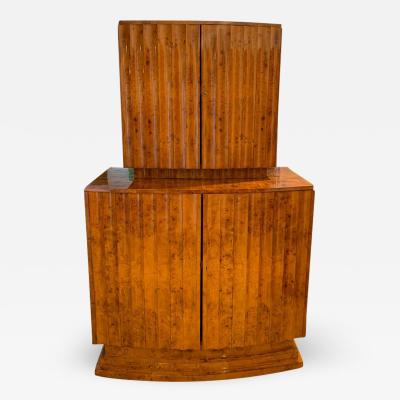 Art Deco Bar or Drinks Cabinet Ash Veneer England circa 1930