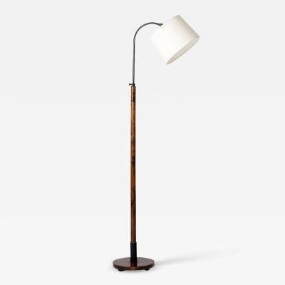 Art Deco Birch Reading Floor Lamp