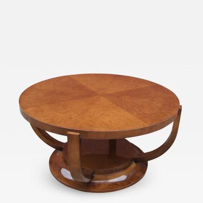 Art Deco Burlwood Cocktail Table
