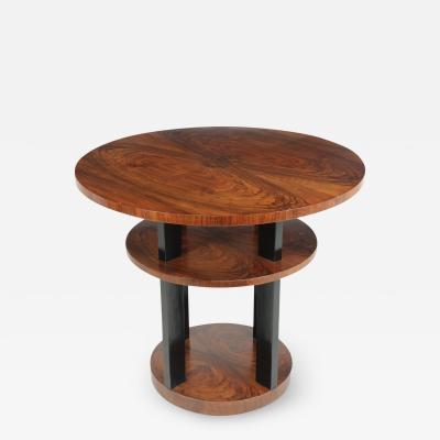 Art Deco Centre Coffee Table in Walnut