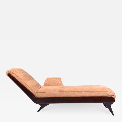 Art Deco Chaise Lounge Rosewood Italy 1930 s
