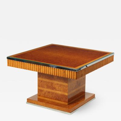 Art Deco Coffee Table in Amboyna and Sycamore c1930