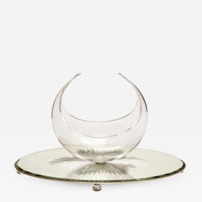 Art Deco Crystal Centerpiece