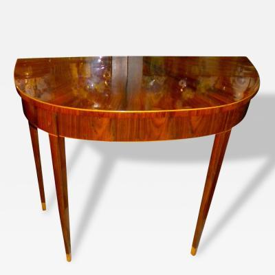 Art Deco Demilune Console Entry Table