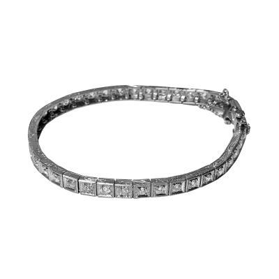 Art Deco Diamond Platinum Bracelet C 1910