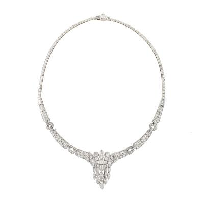 Art Deco Diamond and Platinum Necklace