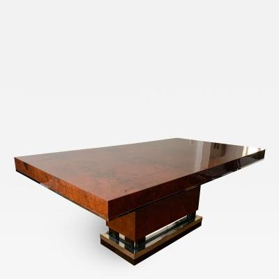 Art Deco Dining Room Table Walnut Roots Southern France circa 1930