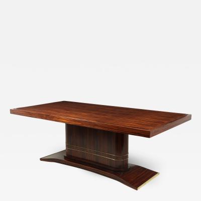 Art Deco Dining Table Macassar Ebony