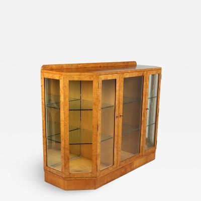 Art Deco Display cabinet in Burr Maple c1930