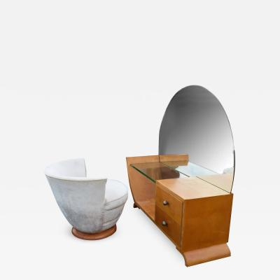 Art Deco Dressing Table And Stool circa 1930