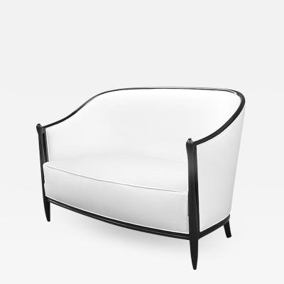 Art Deco Ebonized Settee