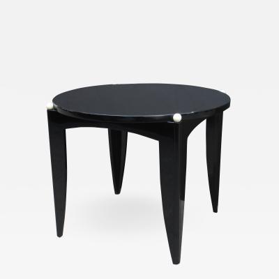Art Deco Ebonized Small Center table