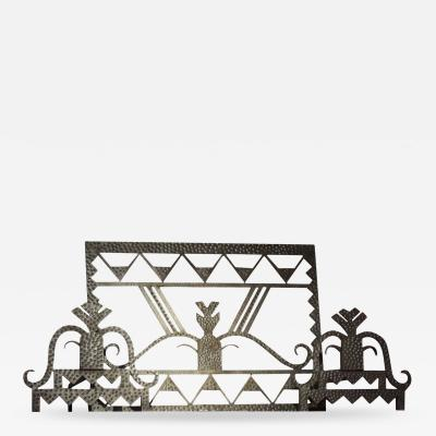 Art Deco Firescreen with Andirons
