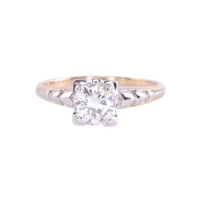 Art Deco GIA Certified Diamond Engagement Ring Size 6