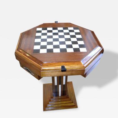 Art Deco Game Table Checkers Backgammon