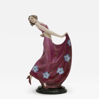 Art Deco German Porcelain Figure by Fasold Stauch c 1930