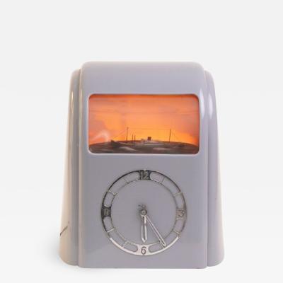 Art Deco Grey Bakelite Vitascope Clock