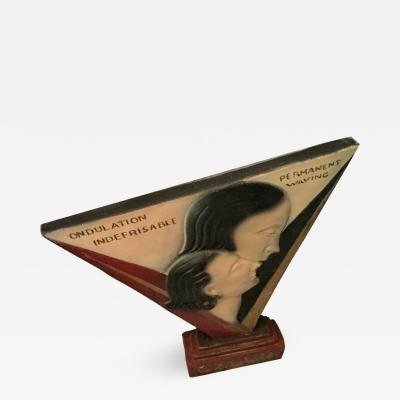 Art Deco Large Advertising Stand Circa 1930s