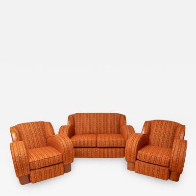 Art Deco Lounge Suite with Cloud design Sides