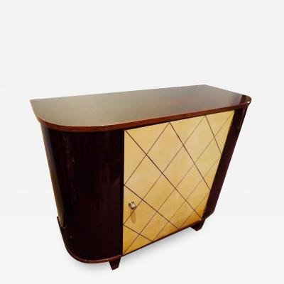 Art Deco Macassar and Pergamino Bar or Buffet Cabinet