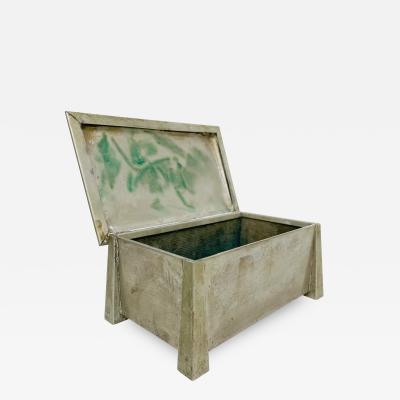 Art Deco Machine Age Silver Nickel Box by FATIMA L M T CO