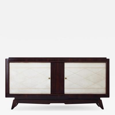 Art Deco Mahogany and Velum Sideboard