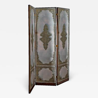 Art Deco Mirrored Folding Screen