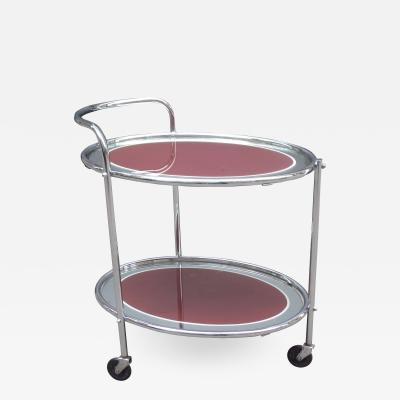 Art Deco Mirrored Serving Cart