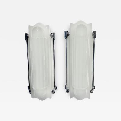 Art Deco Molded Glass Wall Sconces