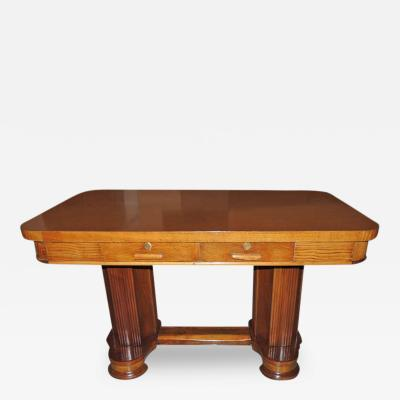 Art Deco Oak Desk Library Table Newly Restored