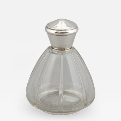 Art Deco Perfume Bottle With Sterling Top