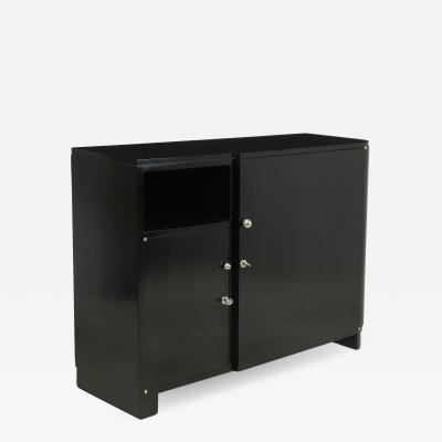 Art Deco Piano Black Lacquer Sideboard C1930