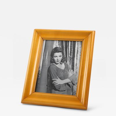 Art Deco Picture Photo Frame Varnish Sycamore France Circa 1940s