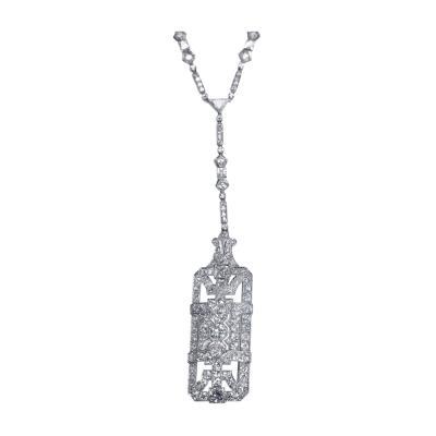 Art Deco Platinum and Diamond Sautoir