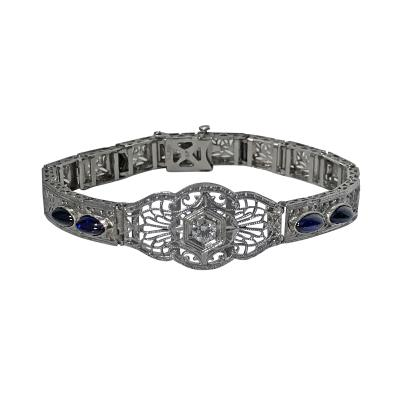 Art Deco Platinum and Gold Bracelet C 1930