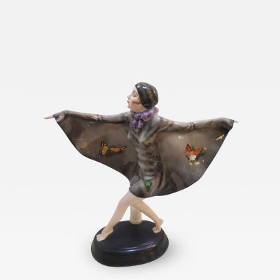 Art Deco Pottery Porcelain Figure
