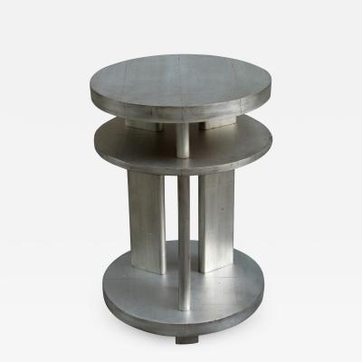 Art Deco Round Two Tier Side Table