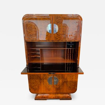 Art Deco Secretaire Walnut Veneer France circa 1930