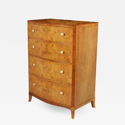 Art Deco Serpentine front Chest of Drawers c1930