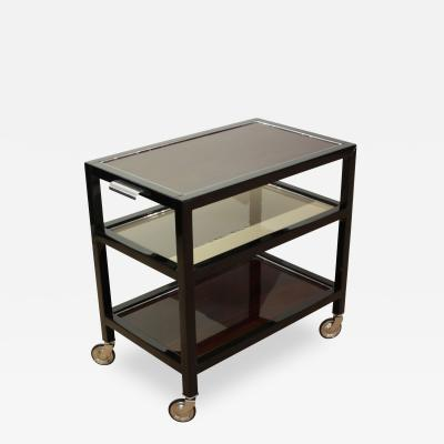 Art Deco Serving Table Rosewood and Black Lacquer France circa 1940