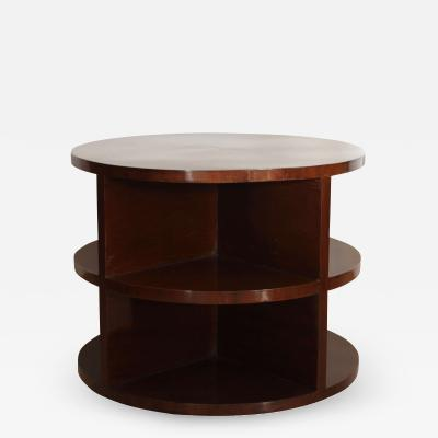 Art Deco Side Table Walnut Veneer France circa 1930