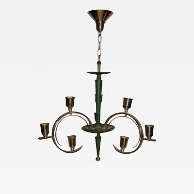 Art Deco Silver Chandelier