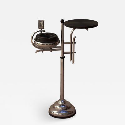 Art Deco Smoking Table Chromed Steel France circa 1930